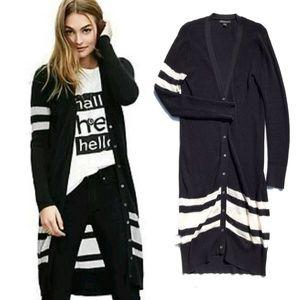 Banana Republic Duster Cardigan Sweater Black :080